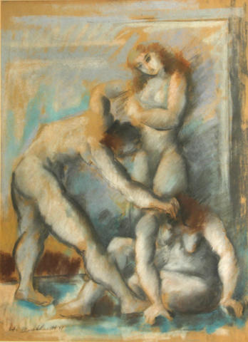 Hans Burkhardt, * RESERVE TO BE DETERMIND * Untitled, 1941 (3 nude figures)