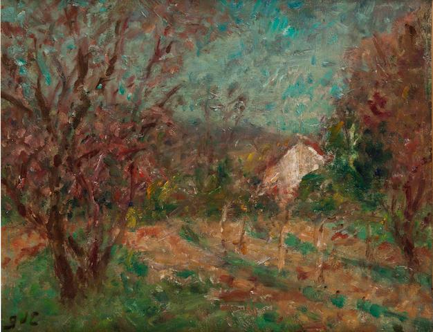 Georges D'Espagnat (1870-1950) Verger auprès de la chaumière 13 x 16 1/8in. (33 x 41cm)