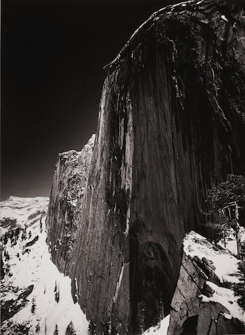 Ansel Adams (1902-1984); Monolith, the Face of Half Dome, Yosemite National Park, California;