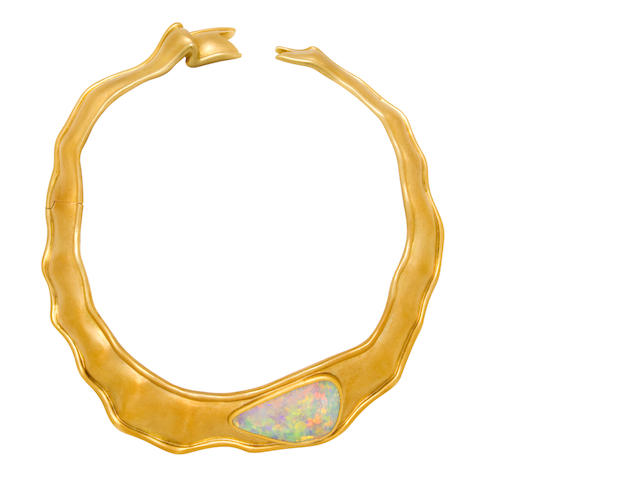 An eighteen karat gold and opal necklace, Angela Cummings for Tiffany & Co.,