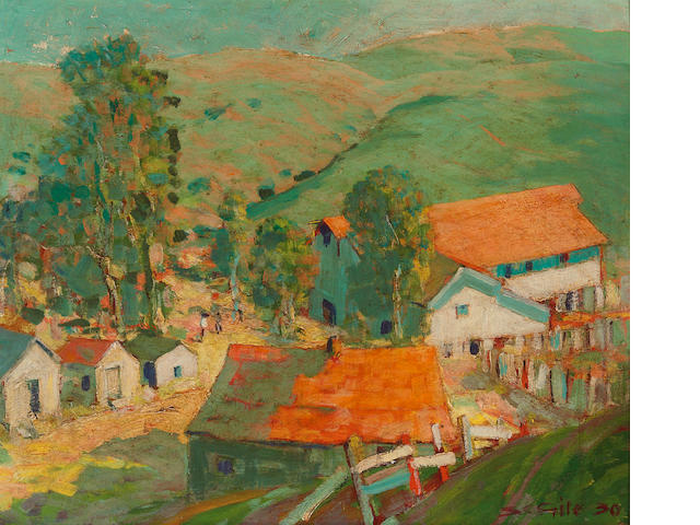 Selden Connor Gile (American, 1877-1947) Mary Brazil Ranch, 1930 15 x 18in