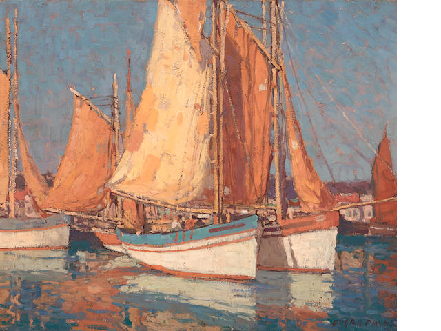 Edgar Payne (1883-1947) Boats off Concarneau 20 x 24in