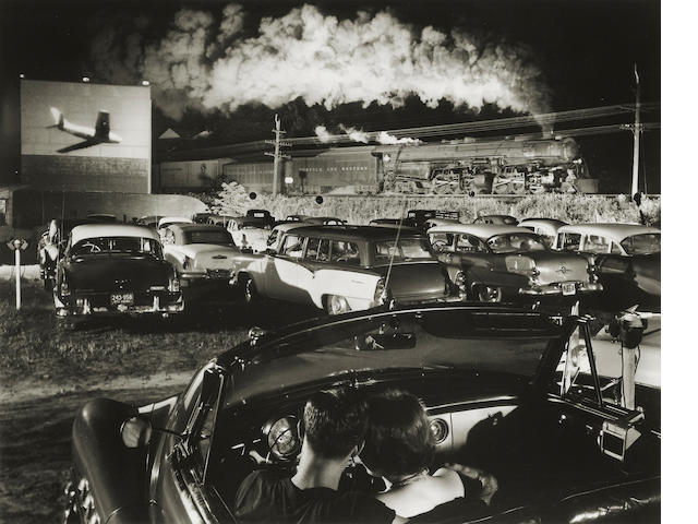 O. Winston Link (1914-2000); Hot Shot Eastbound at the Iaeger Drive-in, West Virginia;