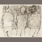 Ben Shahn, Louis Armstrong in Israel, ink and wash on paper