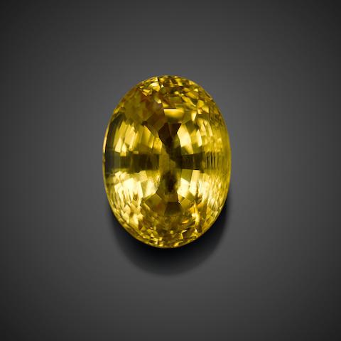 Fine Natural Intense Yellow Sapphire
