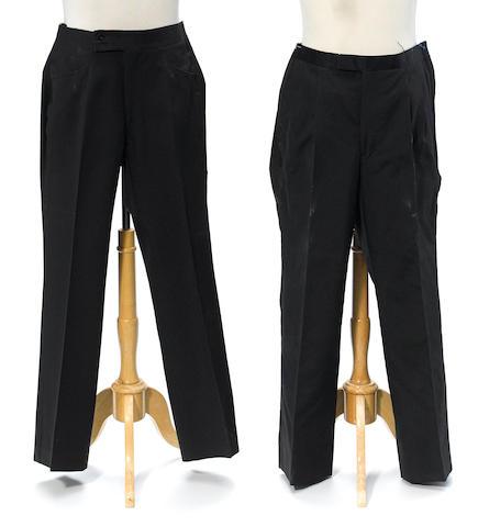 Two pair of Milton Berle's tuxedo pants
