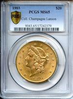 1903 $20 MS65 PCGS