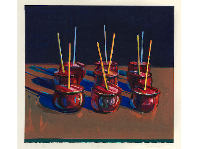 Wayne Thiebaud (born 1920); Candy Apples;