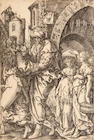Two H. Aldegrever and Georg Pencz engravings; (3)