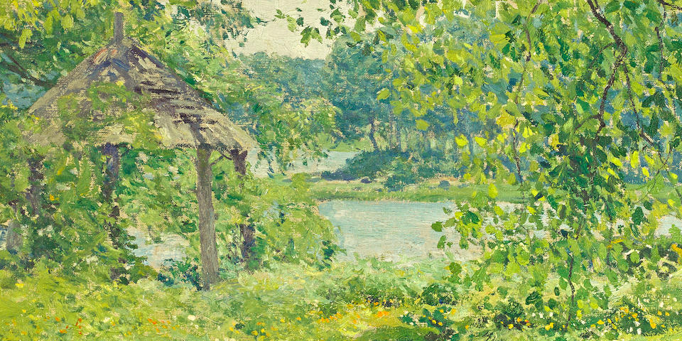 Guy Rose (American, 1867-1925) At Duck Cove 29 x 24in