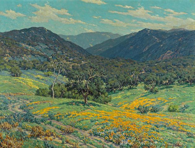 Granville Redmond (American, 1871-1935) Spring in Southern California, 1931 30 x 40in