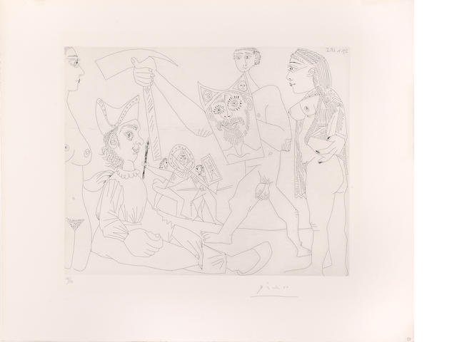 Pablo Picasso (1881-1973); Spectacle de Gladiateurs, pl. 58, from Séries 347 ;