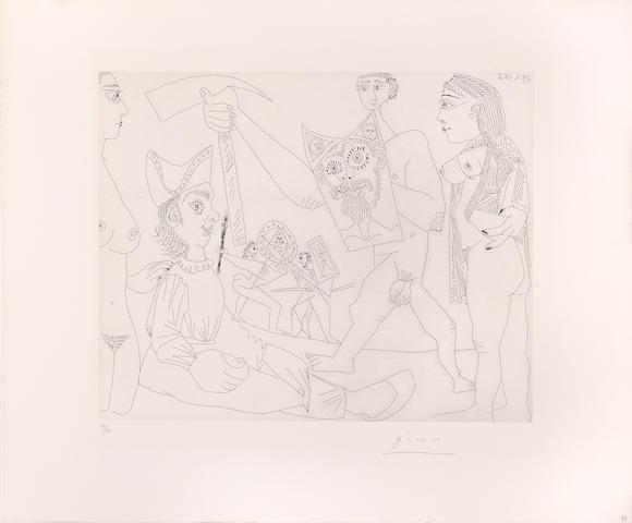 Pablo Picasso (1881-1973); Spectacle de Gladiateurs, pl. 58, from Séries 347 ;