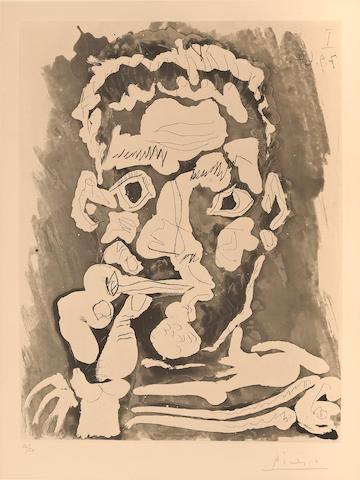 Pablo Picasso (1881-1973); Fumeur;