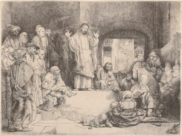 Rembrandt Harmensz van Rijn (1606-1669); Christ preaching (La Petite Tombe);