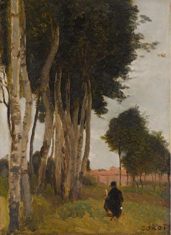 Jean-Baptiste-Camille Corot (French, 1796-1875) Douai, glacis des fortifications, près la porte Notre-Dame 13 3/4 x 10 1/2in (35 x 26.5cm)