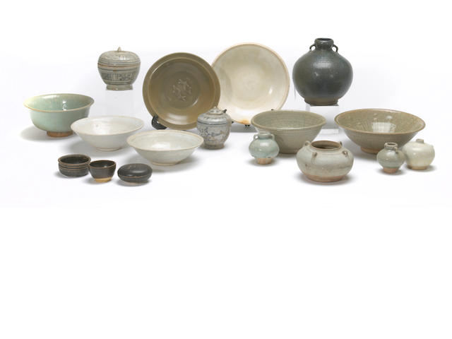 A group of Chinese and Southeast Asian trade wares