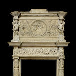 An Italian Renaissance style carved marble chimney surround<BR />fourth quarter 19th century