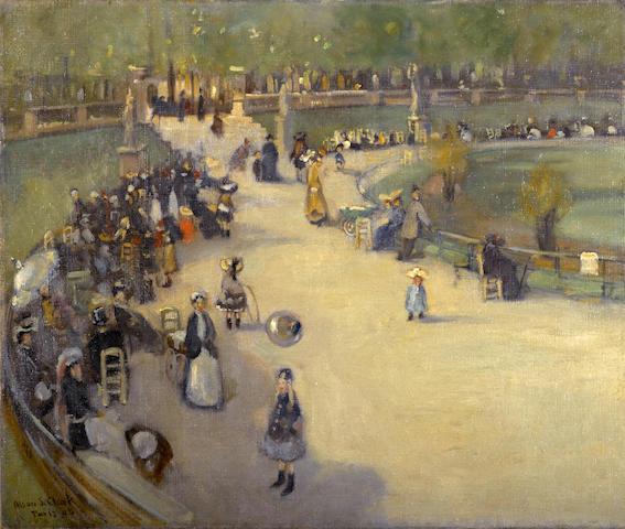 Alson Skinner Clark (1876-1949) Jardin du Luxembourg, Paris, 1903 18 x 21 1/2in