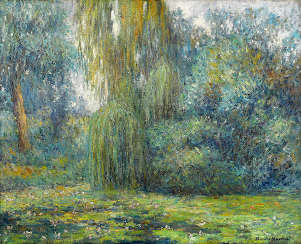 Blanche Hoschedé-Monet (1865-1947) Nympheas  28 1/2 x 36in. (72.4 x 91.5cm)