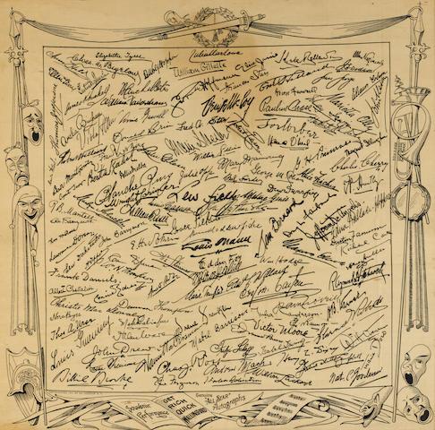A Milton Berle owned vaudeville souvenir scarf