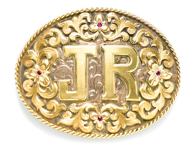 "A Larry Hagman Bohlin ""JR"" belt buckle"