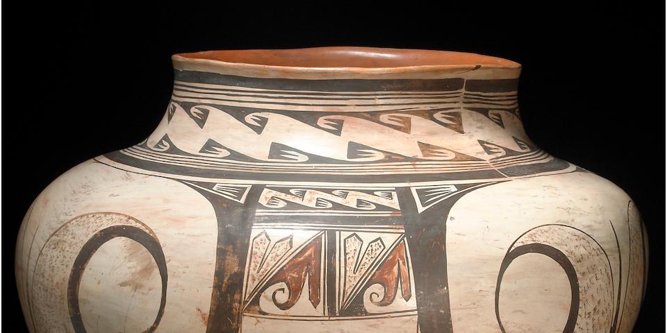 A fine and rare Hopi polychrome storage jar