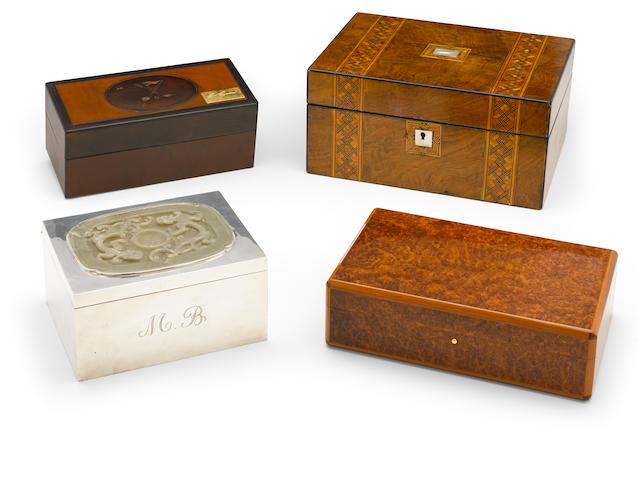A group of four Milton Berle humidors