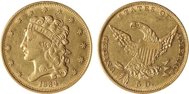 1834 $5 Plain 4
