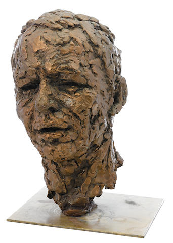 A patinated bronze bust of Frank Sinatra by Robert Berk