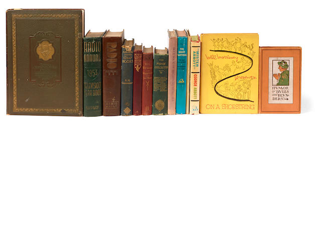 A group of Milton Berle owned books on humor, comedy, and show business