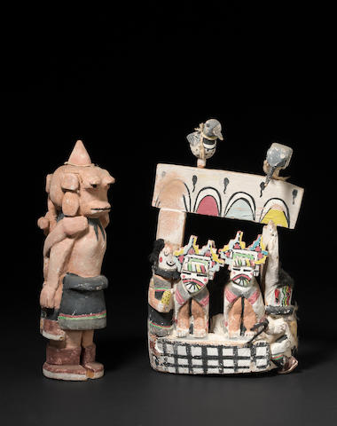 Two Hopi kachina carvings