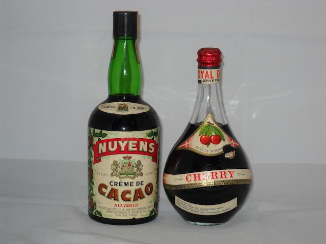Nuyens Creme de Cacao (1)   Royal Dane Cherry Liqueur (1)
