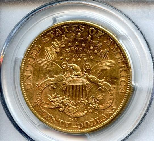 1904-S $20 AU53 PCGS