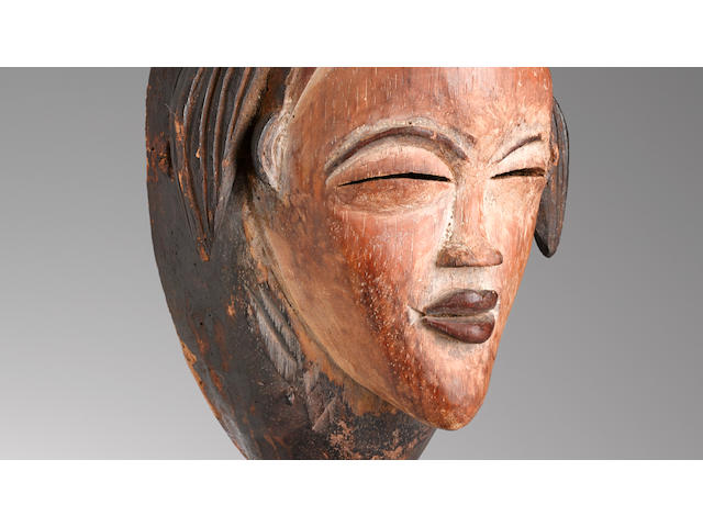 Fine Punu Mask, Gabon height 13 1/2in (34.3cm)