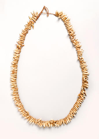 Rare Necklace, Niue Island length 25 1/2in (64.7cm)