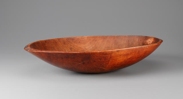 Rare Feast Bowl, Raivavae Island, Austral Islands  length 22 3/8in (57cm)