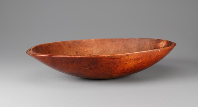 Rare Feast Bowl, Raivavae Island, Austral Islands  length 22 3/8in (57cm)