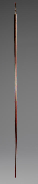 Important and Rare Barbed Spear, Hawaiian Islands length 87in (221cm)