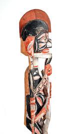 Malanggan Figure, New Ireland height 46 1/2in (118cm)