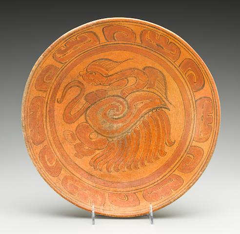 Maya Polychrome Plate Late Classic, ca. A.D. 550-950