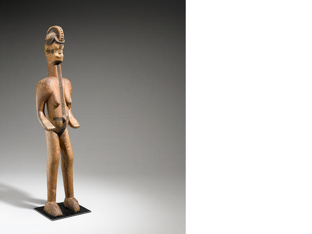 Igbo Female Shrine Figure, Nigeria height 56 5/8in (143.7cm)
