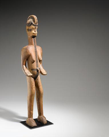 Igbo Female Shrine Figure, Nigeria height 56 5/8in (143.7cm)