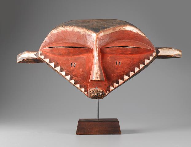 Eastern Pende Mask, Democratic Republic of the Congo width 22 3/4in (58cm)