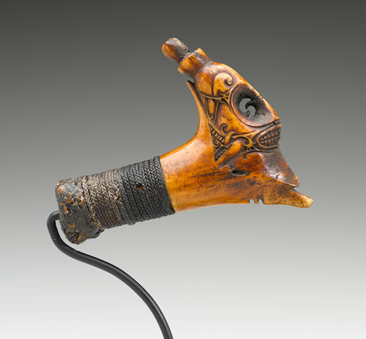 Modang Dayak Headhunting Sword Handle, Borneo Island