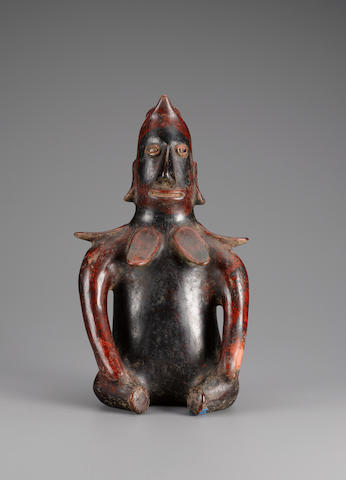Colima Seated Shaman<BR />Protoclassic, ca. 100 B.C. - A.D. 250 height 17 3/4in (45.1cm)