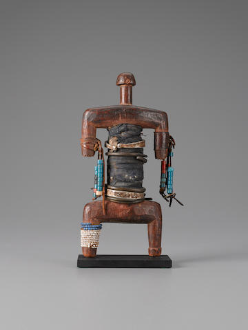 Namji Fetish Figure, Cameroon height 9 3/4in (24.8cm)
