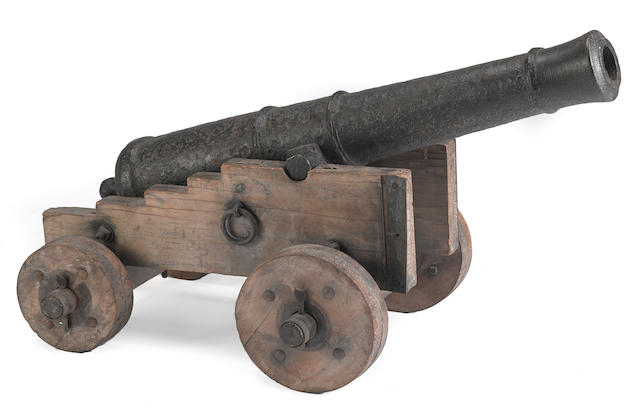 An iron three pounder gun with attribution to the Siege of Yorktown -Select US Arms Type-