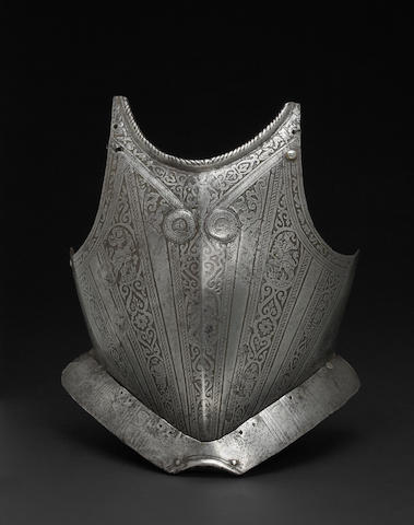 A North Italian breastplate in the Pisan style -Select US Arms Type-