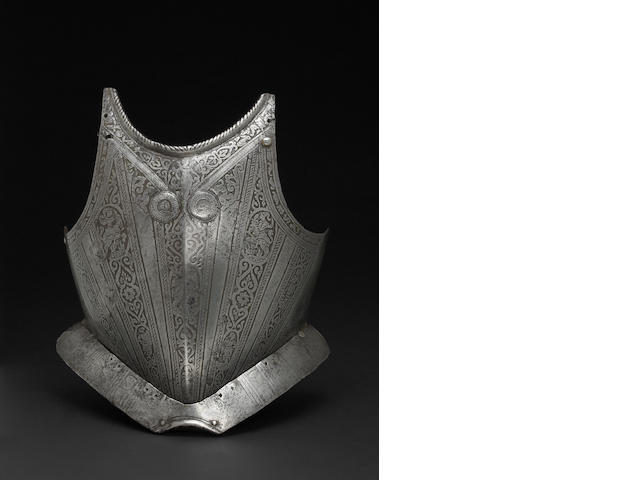 A North Italian breastplate in the Pisan style